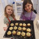 Alice and Hannah with their cupcakes St Anthony's School for Girls