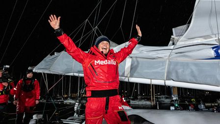 Pip Hare after the Vendee Globe round the world yacht race