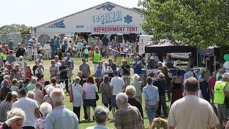 A crowded Babbacombe Downs for the Rotary Club's Babbacombe Fayre
