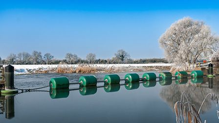 Peter Turner took this image of the River Great Ouse at Offord on a snowy February morning.