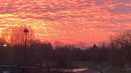 A stunning sunset taken across the Riverside Park at St Neots by Gwen Issacs.