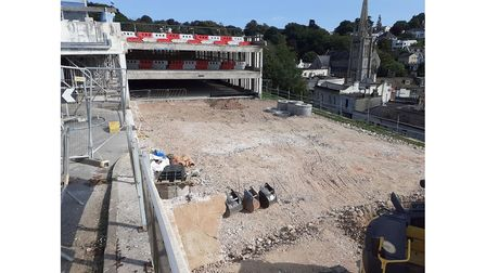 Demolition of part of Terrace car park in Torquay is complete