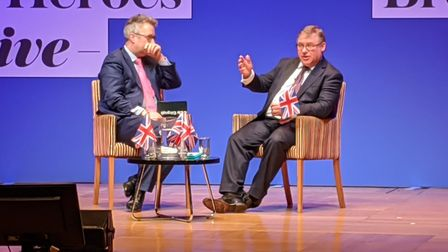 Mark Francois is interviewed by host Christopher Hope at the event organiser by the Daily Telegraph.