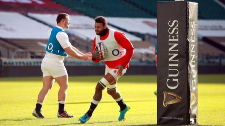 England's Courtney Lawes during a training session at Twickenham Stadium, London. Picture date: Frid