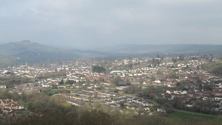 A view of Honiton from Roundball Hill