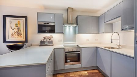 The property'smodern fitted kitchen.
