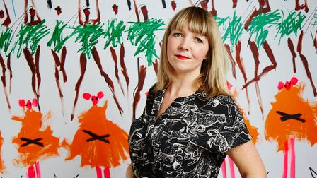 Author and illustrator Fiona Lumbers lives in Stoke Newington and is decorating the window of Crouch End's Pickled Pepper Books ahead of World Book Day.