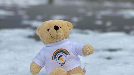400 pupils at Alban City School received a teddy bear.