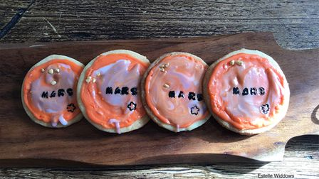Spacey cakes based by pupils during project inspired by NASA mission to Mars.