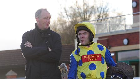 Flashback to 2015: Trainer David Pipe and jockey Tom Scudamore - this is a long-standing family relationship as Tom's father Peter was a rider for David's father Martin