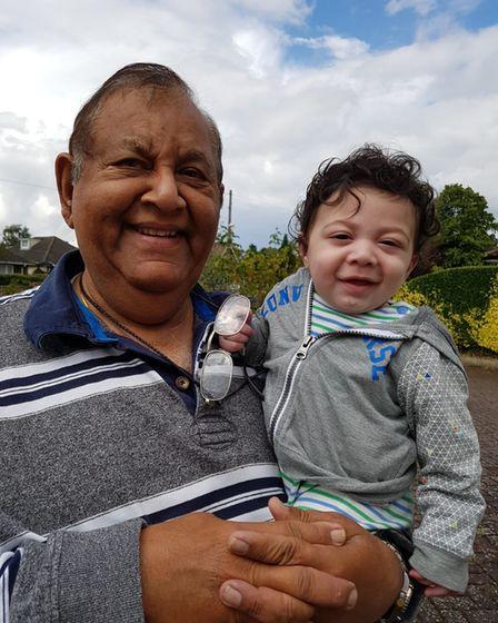 Dr Bathia with his grandson