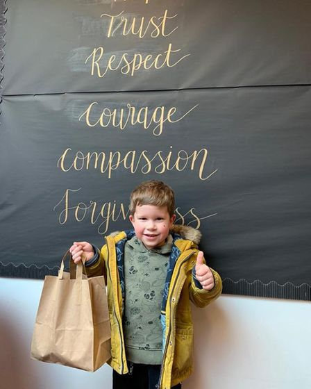 A pupil at Peterhouse Church of England Primary Academy in Gorleston.