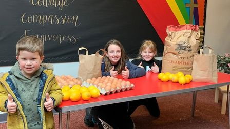 Pupils at Peterhouse Church of England Primary Academy in Gorleston getting reading for pancakes on Shrove Tuesday.