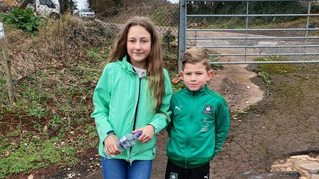 Evannah and Cache completed 72 miles in their January charity challenge
