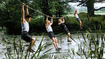 Cichociemni agents tackle assault course at Audley End. Copyright -From the collection of the Polish