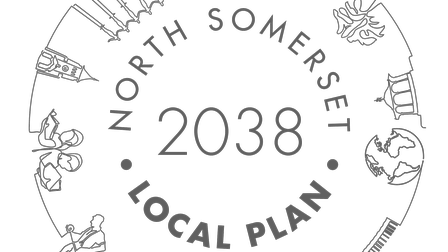 The North Somerset Local Plan Challenges logo.