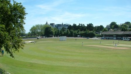The view from the players' balcony at Torquay Cricket Club