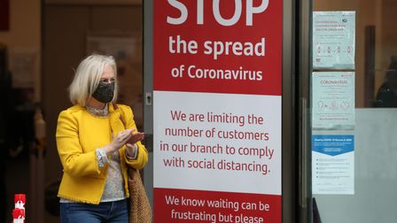A member of the public wears a face mask. Pic: Andrew Milligan/PA Wire