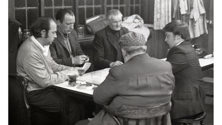 Around the table at The Duke of Gloucester pub in Ipswich in 1974