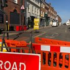 Road closures were introduced in St Albans city centre at the end of the first lockdown to promote social distancing.