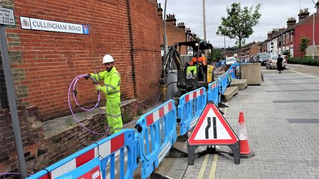 CityFibre roadworks