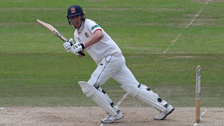 Daniel Lawrence in batting action for Essex during Nottinghamshire CCC vs Essex CCC, Specsavers Coun
