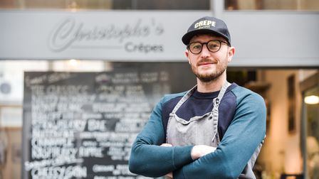 Chris Smith, owner of Christophe's Crepes in Norwich. Picture: SARAH LUCY BROWN