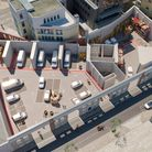 An aerial shot of the proposed depot