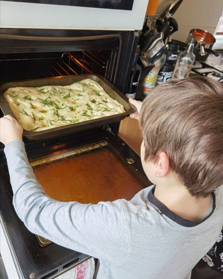 Focaccia Fun was one of the challenges in the Great Cliff Lane Bake Off