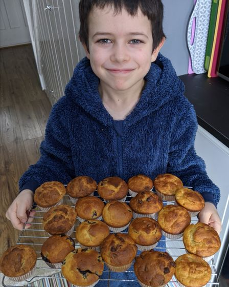 Oliver won 'star baker' for the mini muffin mania challenge