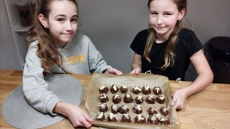 Oliwia and Maja were named as 'star bakers' for the fifth challenge, Terrific Truffles