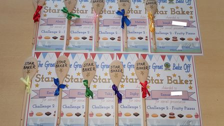 Winners of challenges are given 'star baker' awards