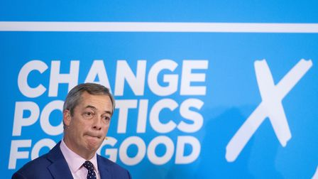 Brexit Party leader Nigel Farage during the general election campaign. Photograph: Dominic Lipinski/