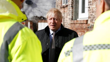 Prime Minister Boris Johnson visits Bewdley in Worcestershire. Photograph: PETER NICHOLLS/PA Wire.