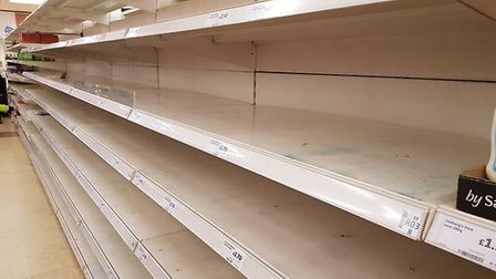 The tweet contained this photograph of a Sainsbury's. Photograph: Twitter.
