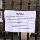 A closure notice outside a school in Hackney, London, amid the coronavirus pandemic. Picture: Getty