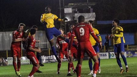 Solomon Nwabuokei scores for St Albans City