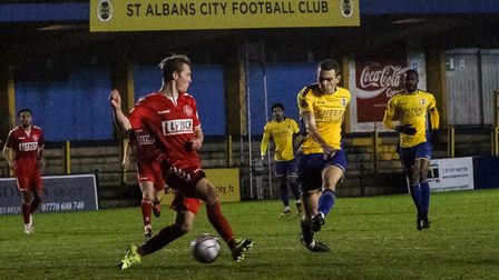 Mitchell Weiss in action for St Albans City