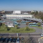 Artist impression of bus interchange