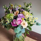 The Little Tin Shed's stunning Vintage Bouquet is a best seller and with any order you can add on a eco-friendly recycled glass vase to display the flowers in.