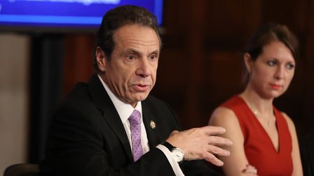 New York governor Andrew Cuomo speaks during a daily news conference amid the coronavirus pandemic.