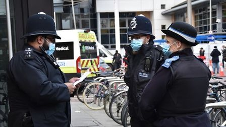 Police officers on the beat.
