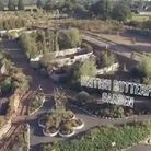 Aerial photos of Butterfly World in St Albans taken by SkyPhocal