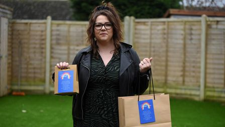 Carrie-Ann Harvey has made lots of pick me up packages to give to NHS staff at Ipswich Hospital