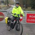 John Mouatt is planning to cycle every day in March.
