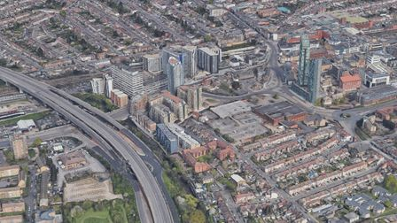 Aerial view of Ilford town centre