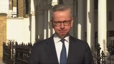 Michael Gove appears on the BBC's Andrew Marr show. Photograph: BBC.