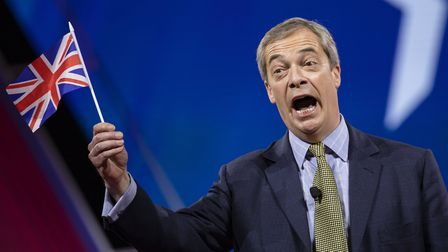 Nigel Farage speaks at the Conservative Political Action Conference 2020. (Photo by Samuel Corum/Get