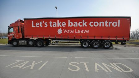 A Vote Leave campaign lorry in Southampton. Photograph: Andrew Matthews/PA.