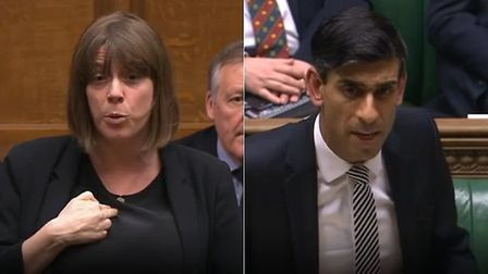 Jess Phillips challenges Rishi Sunak in the House of Commons. Photograph: Parliament TV.